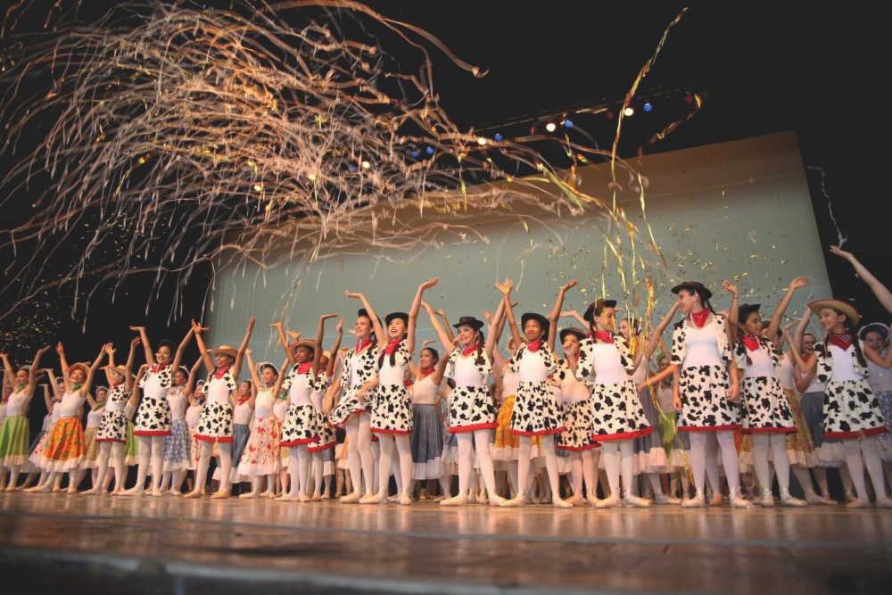 Children on stage at the Mann