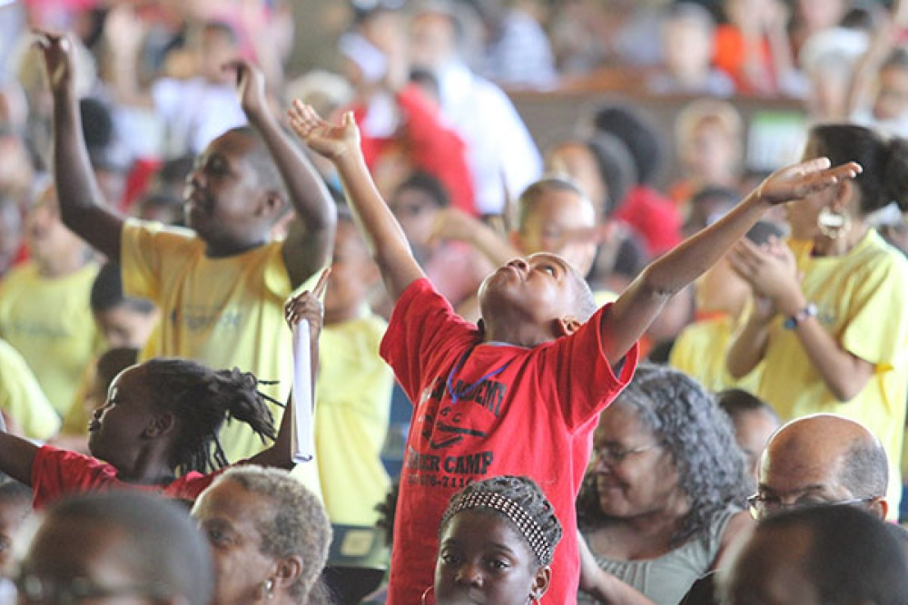 Children at the Black Violins YPCS event at the Mann