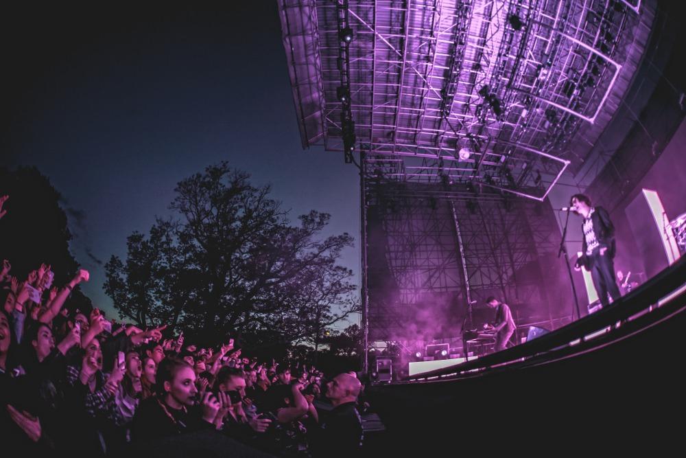Skyline stage at night