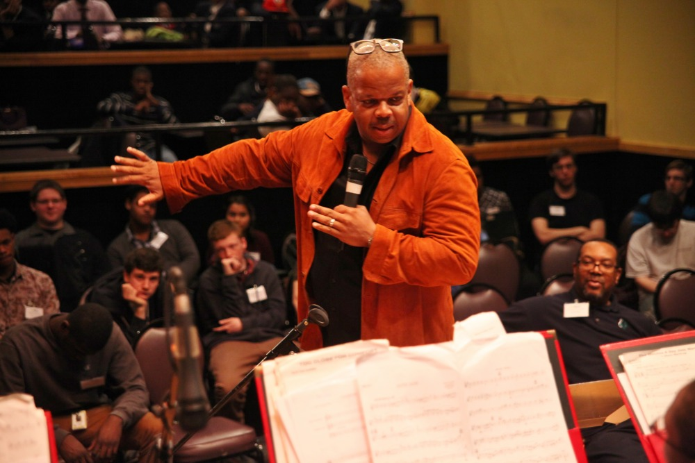 Terence Blanchard leads the students