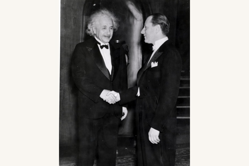 Fred Mann with Einstein