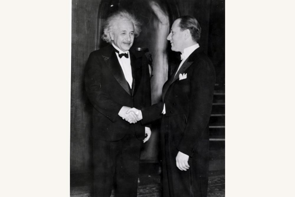 Fred Mann with Einstein