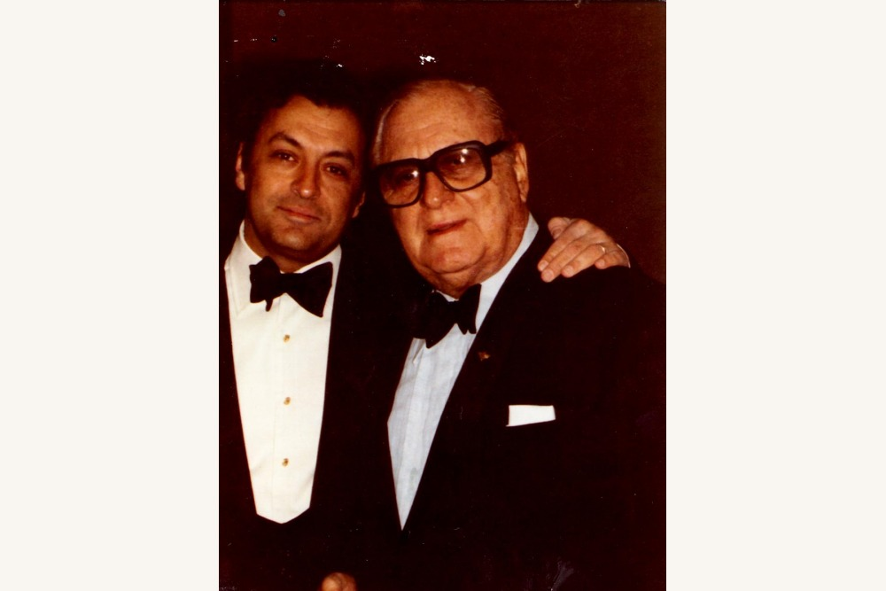 Fred Mann with Zubin Mehta