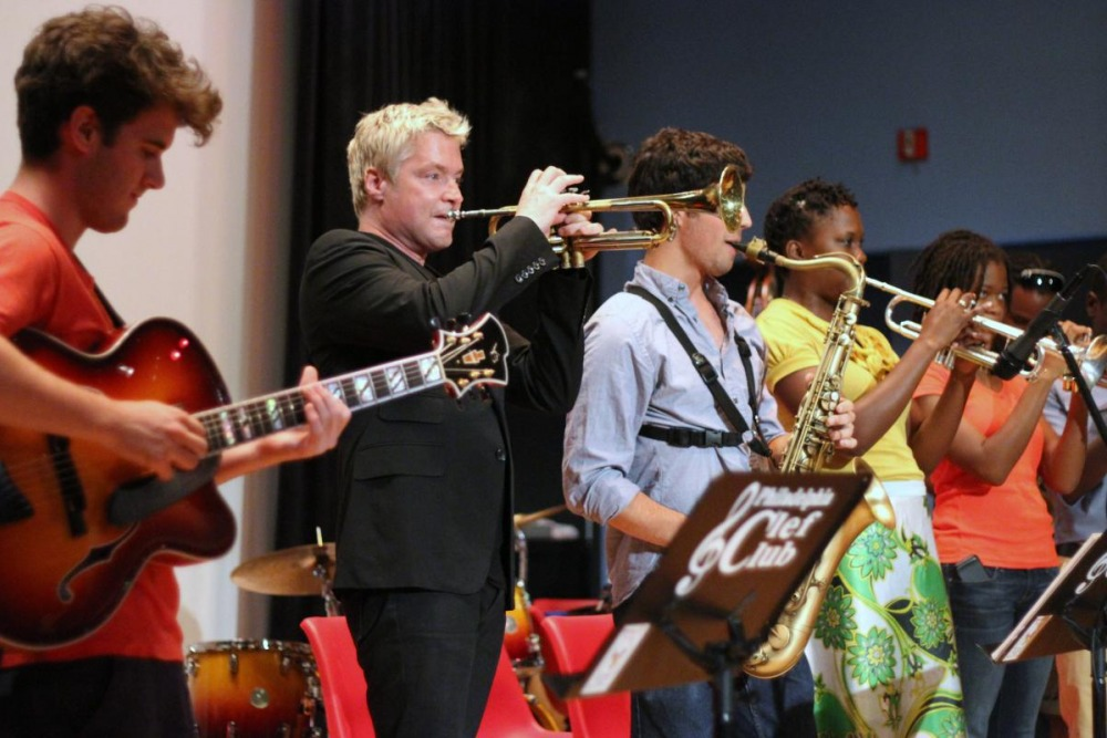 Chris Botti master class at the Mann
