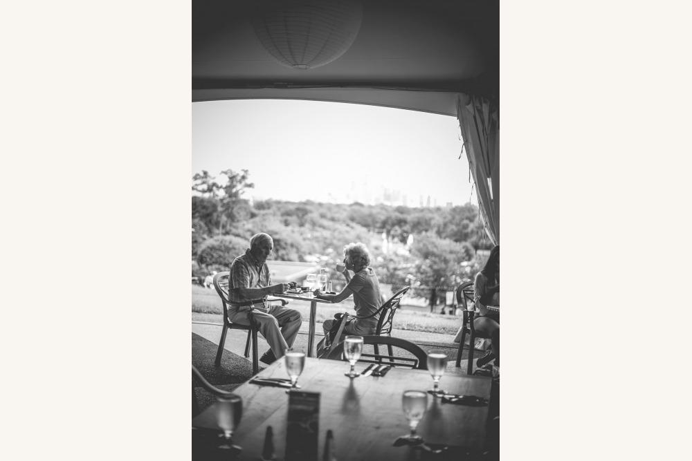Couple dining at Crescendo