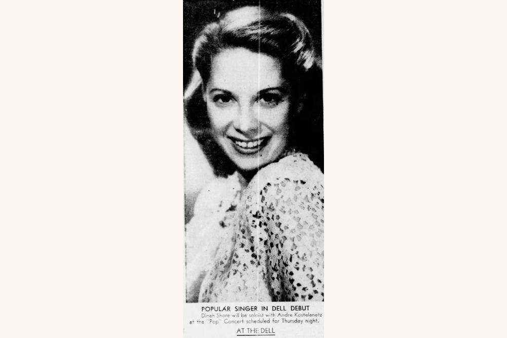 Dinah Shore Promo Photo 1945