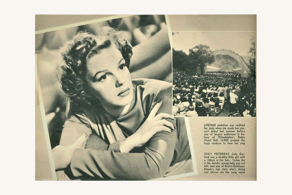 Judy Garland appearance at RHD in Radio & Movie Guide 1943