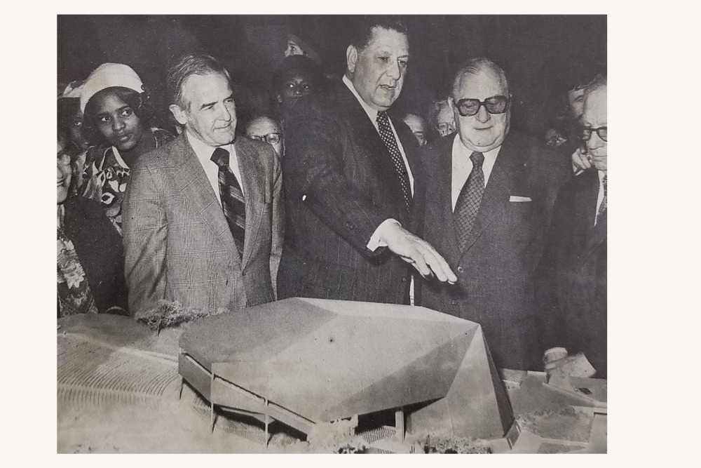 Unveiling of Robin Hood Dell West Model, 1975