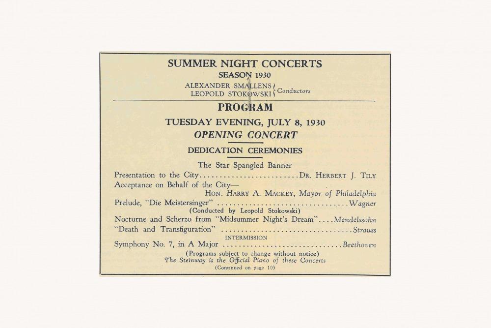 Stokowski Inaugural Concert 1930