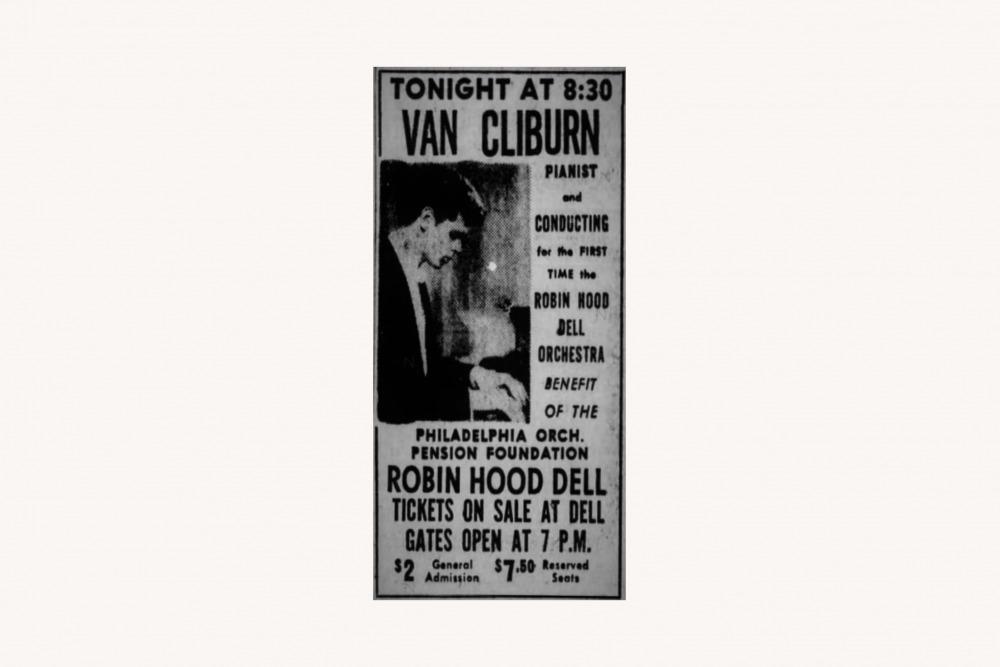 Van Cliburn, Philadelphia Inquirer
