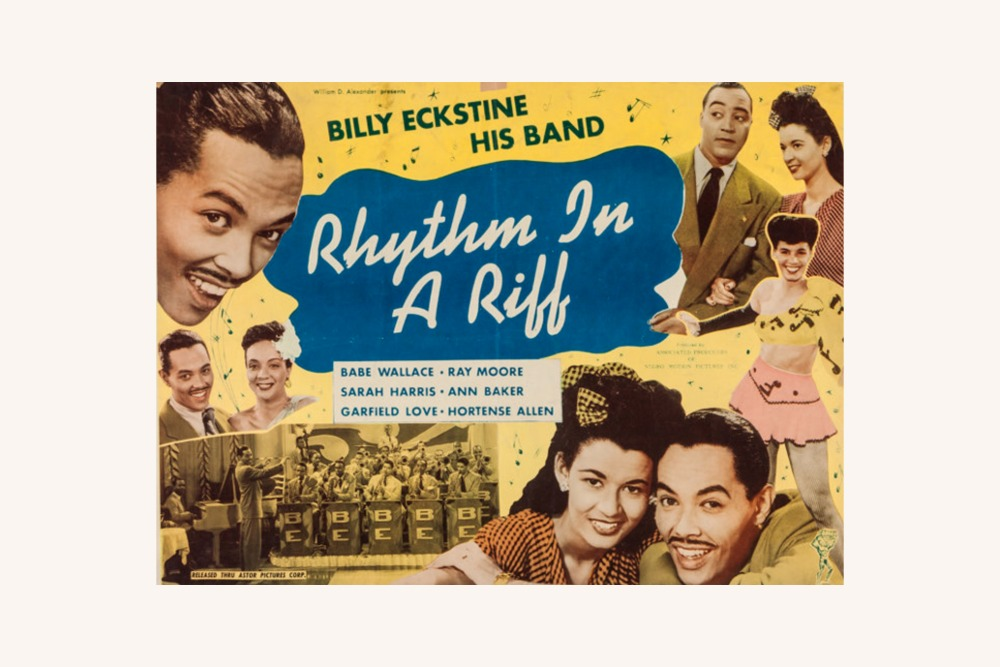 Promotional poster for the 1947 short film, Rhythm in a Riff