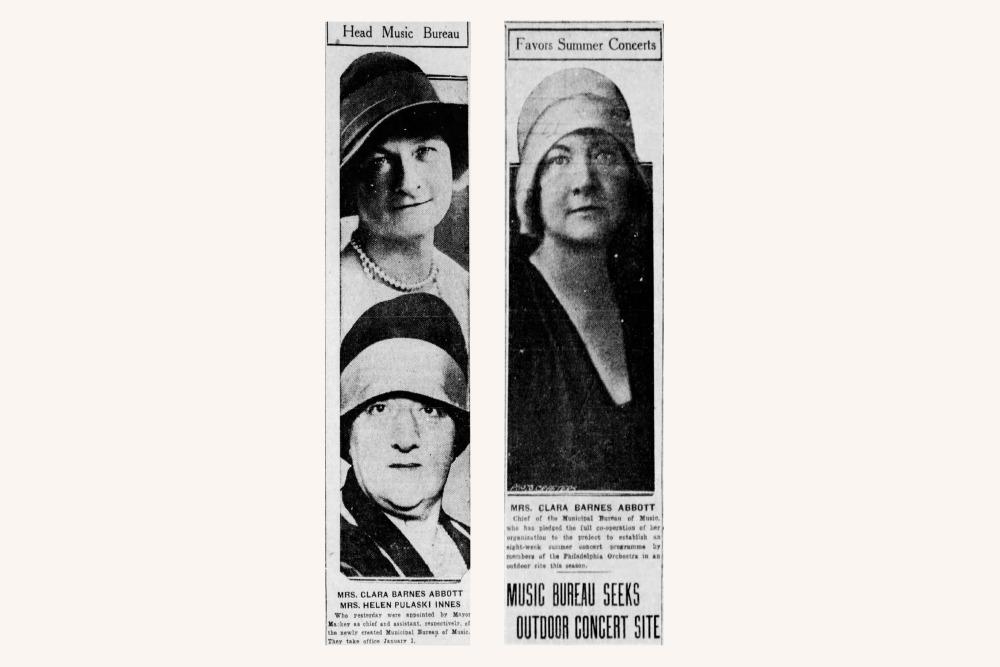 Clara Barnes Abbott in the Philadelphia Inquirer