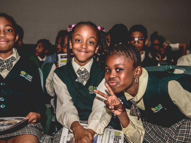 Photo of children in the Connecting Arts N Schools program