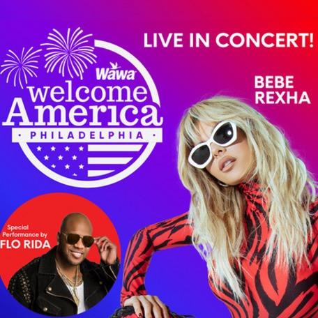 Wawa Welcome America Bebe Rexha with Flo Rida