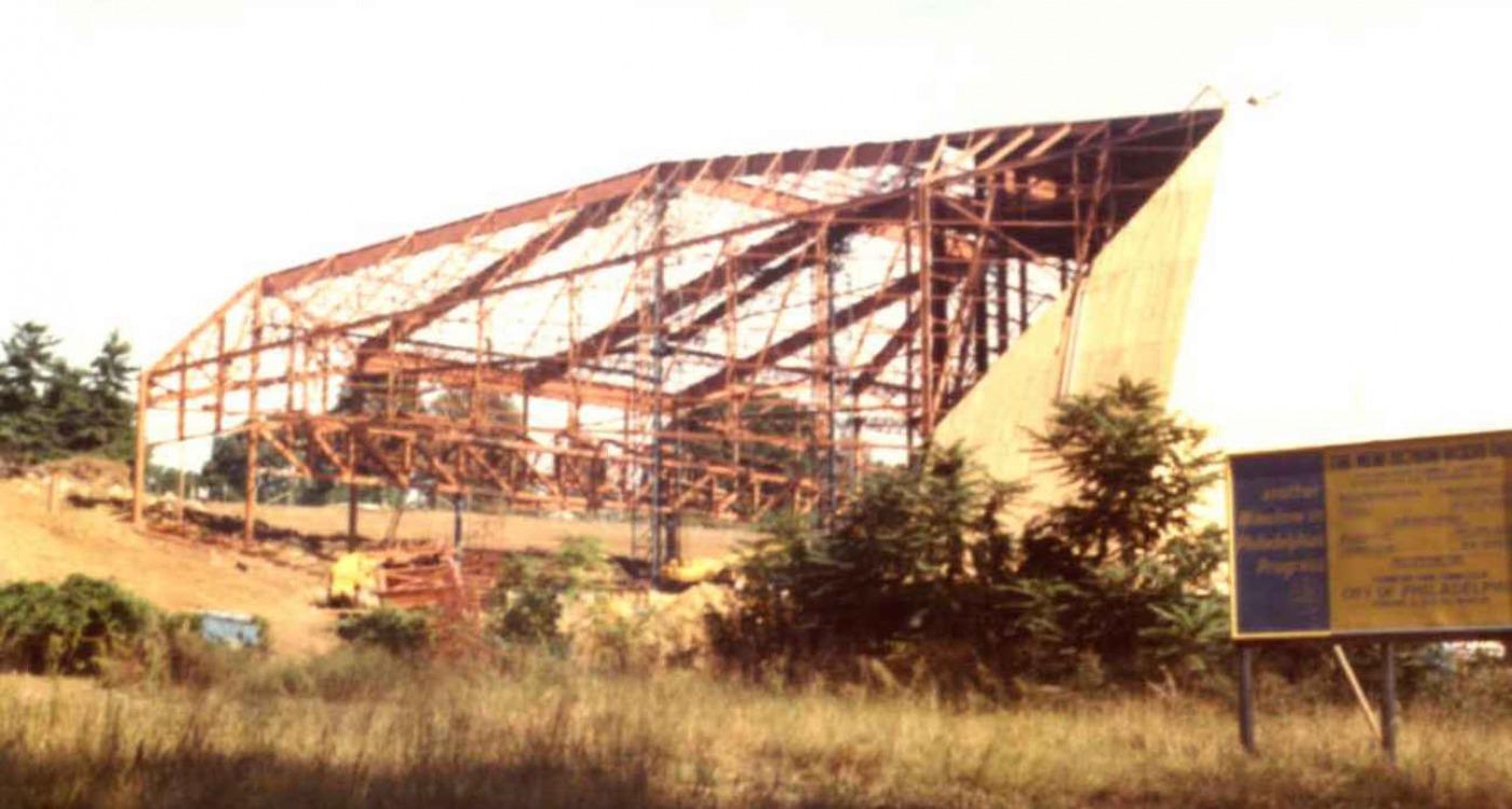 Mann Center being built