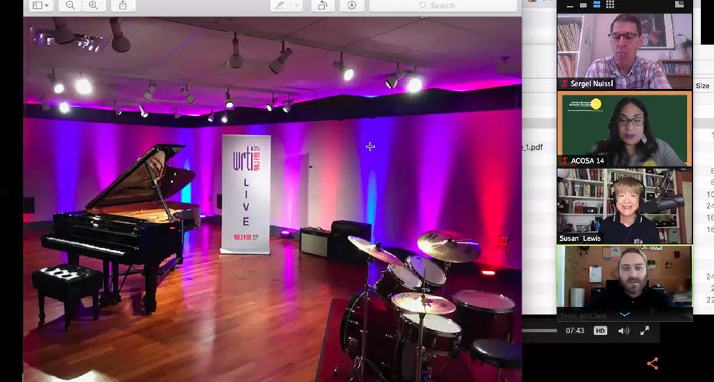 Screenshot of WRTI partnership with ACOSA