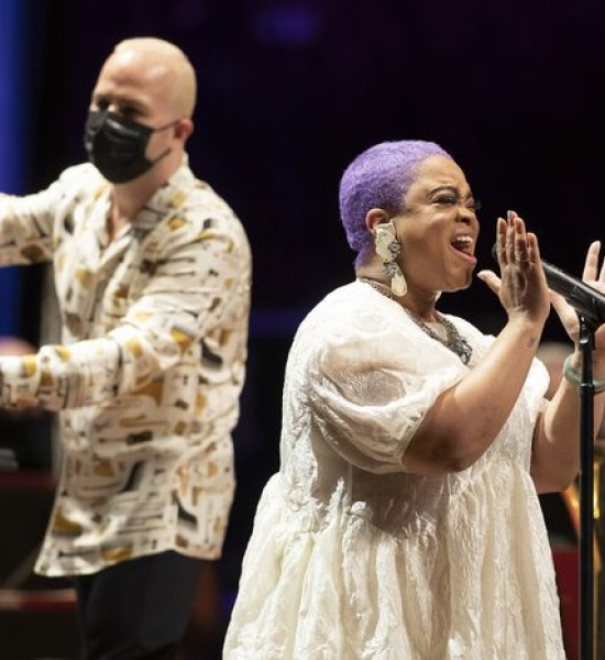 Vocalist Laurin Talese and Philadelphia Orchestra music director Yannick Nézet-Seguin