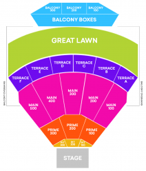 the Mann's Main Stage Seating Map